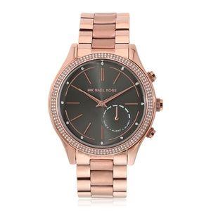 Rose Gold Womens Hybrid Smart Watch Mkt4005